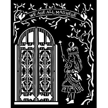 Stamperia Alice Through the Looking Glass Thick Stencil 20x25cm  Door (KSTD091)