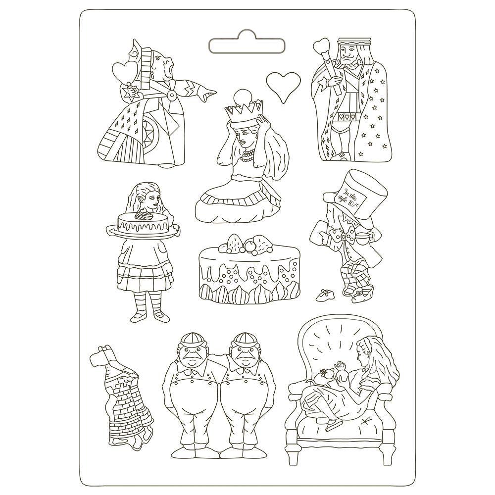 Stamperia Alice Soft Mould A4 King (K3PTA4506)