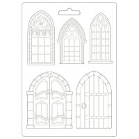 Stamperia Sleeping Beauty Soft Mould A4 Doors and Windows (K3PTA498)