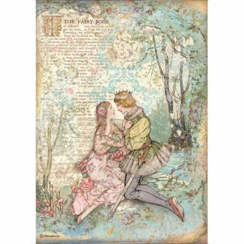 Stamperia Sleeping Beauty A4  Rice Paper Lovers (DFSA4574)