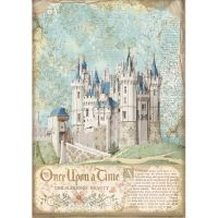 Stamperia Sleeping Beauty A4  Rice Paper Fairy Castle (DFSA4569)