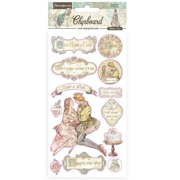 Stamperia Sleeping Beauty Chipboards (DFLCB30)
