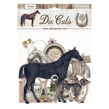 Stamperia Romantic Horses Die Cuts (DFLDC40)