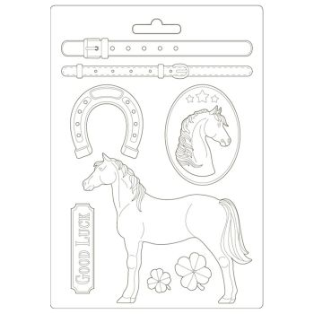 Stamperia Romantic Horses Soft Mould A4 Standing Horse (K3PTA4500)