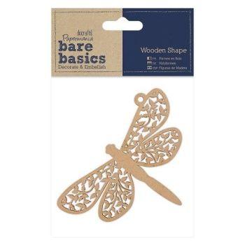Papermania Bare Basics Wooden Shapes Dragonfly (PMA 174621)