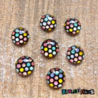 Dotty Glass Dome Cabochons (CA3032)