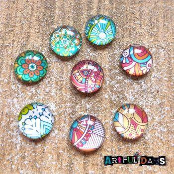 Glass Dome Cabochons Patterns 1 (CA3022)