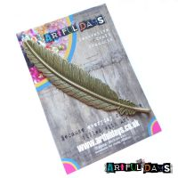 Treasured Artefacts - Long Feather Charm (TA210)
