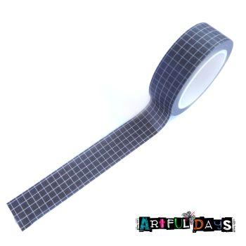 Black & White Grid Pattern Washi Tape (W8008)
