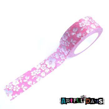 Pink Florals Washi Tape (W8012)