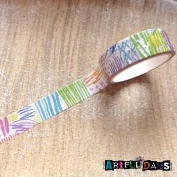 Coloured Scribble Washi Tape (W8025)