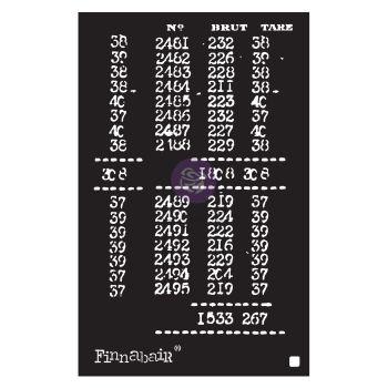 Prima Finnabair Stencil - Book of Numbers (968977)