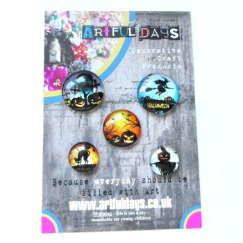 Halloween Glass Dome Cabochons Set