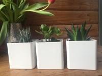 Vaso Cubik Bianco 21cm