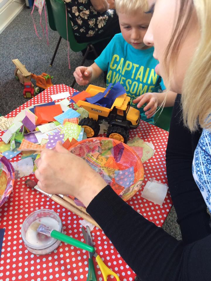 toddler craft at The Craft Studio in Pewsey