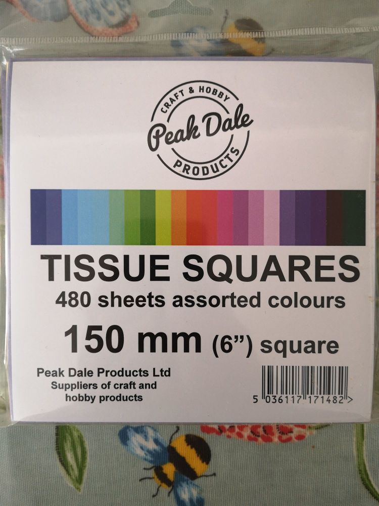 Tissue Squares 150mm (6 inch)