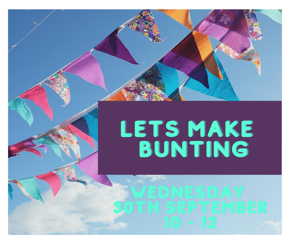 sewing bunting  workshop at  The Craft Studio in Pewsey