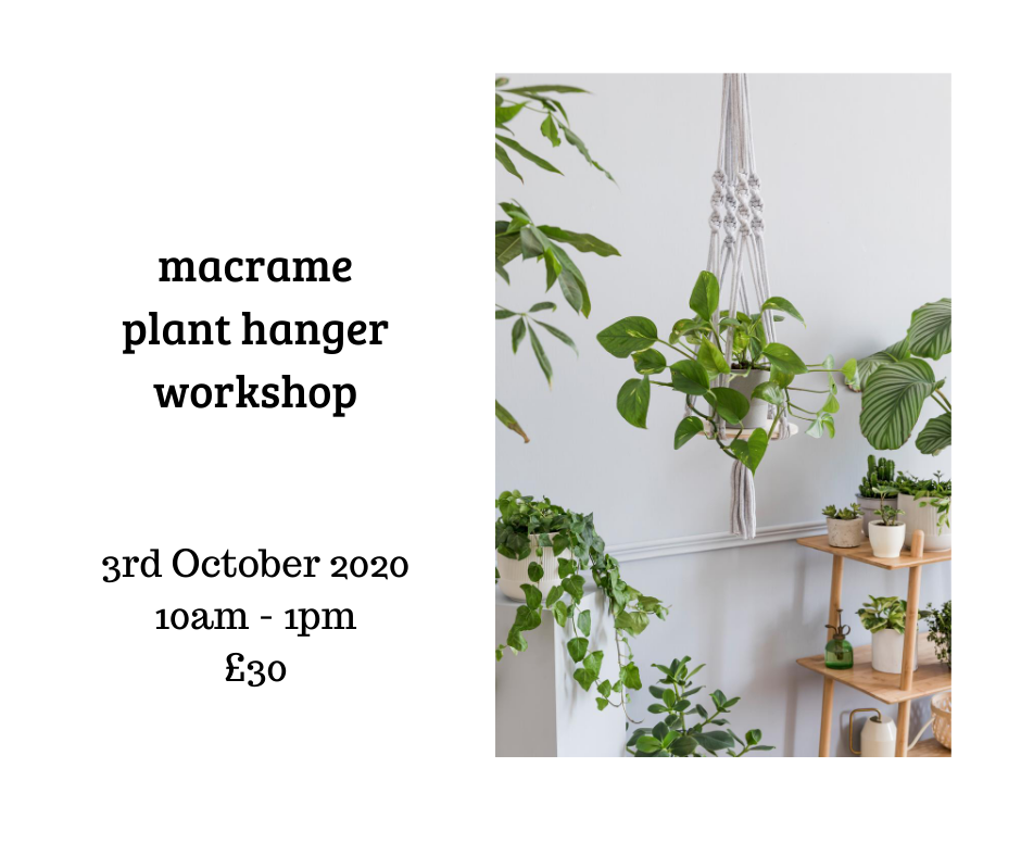 macrame workshop at The Craft Studio in Pewsey