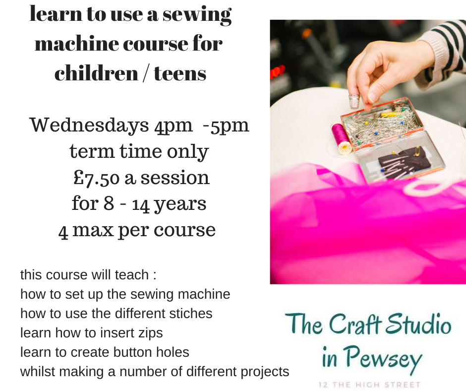 sewing sessions for children  at The Craft Studio in Pewsey