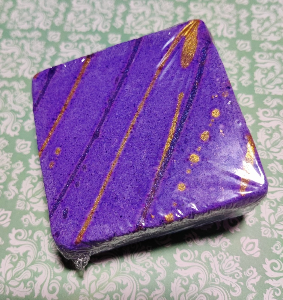 purple rain bath bomb block