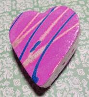 snow pixie bath bomb heart
