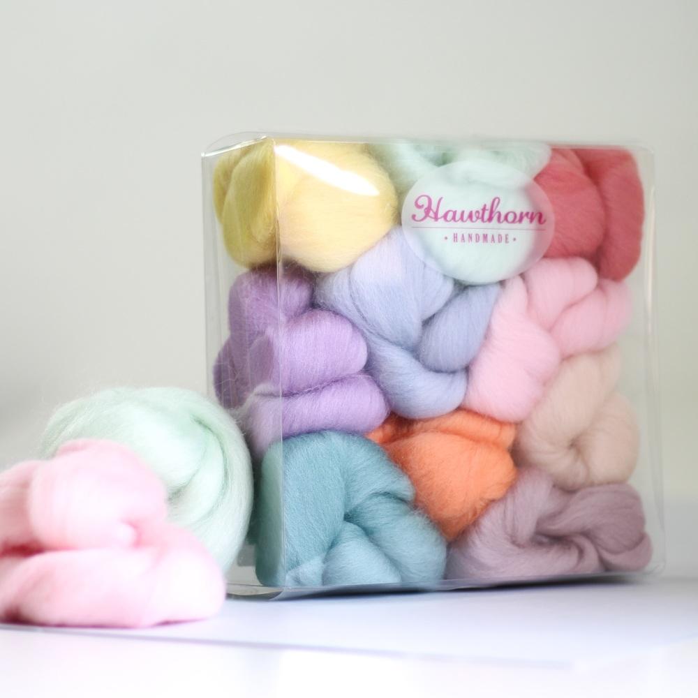 Pastel wool bundle
