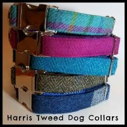 <!-- 001 -->Harris Tweed Clip Dog Collars
