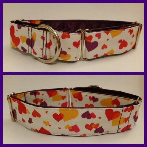 Layered Hearts Martingale Collar