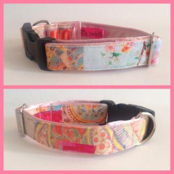 "1"" Peach Paradise Small Clip Dog Collar"