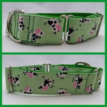 "1.5"" Tossed Cows Whippet Martingale Collar"