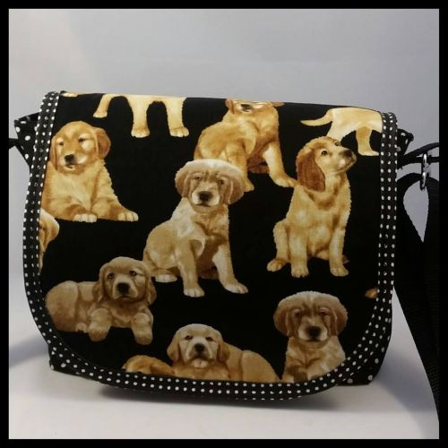Labrador Puppies Mini Messenger Bag