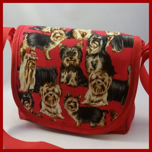 Yorkshire Terriers Mini Messenger Bag