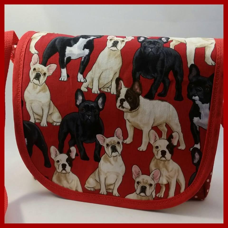 Red French Bulldogs Mini Messenger Bag