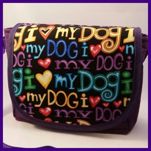 I Love My Dog Mini Messenger Bag