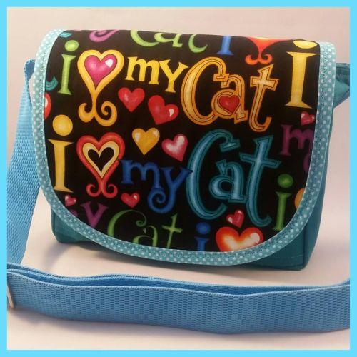 I Love My Cat Mini Messenger Bag