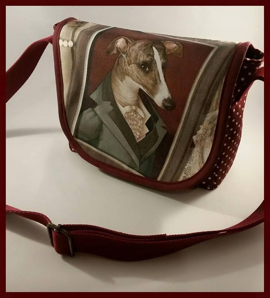 Regal Brindle Hound Mini Messenger Bag