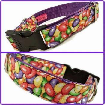"1"" Jellybeans Clip Dog Collar"