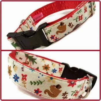 """1"""" Squirrel Nutkin Clip Dog Collar"""