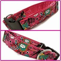 "1.5"" Pink Pow Satin Lined Clip Collar"