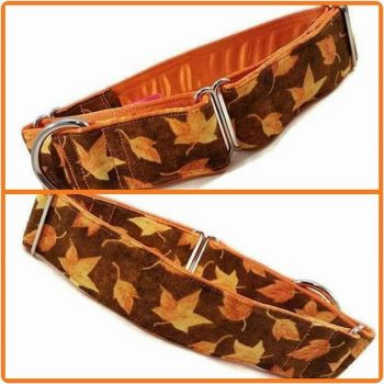 Brown Harvest Leaves Martingale Collar
