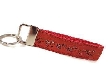 Red Nellie Doodles Keyfob