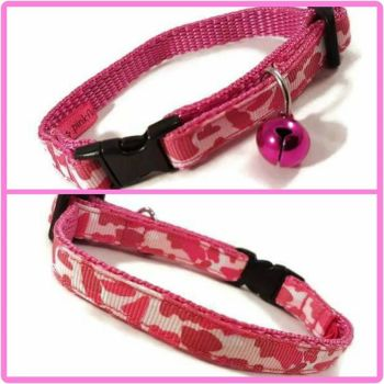 Pink Camouflage Cat Collar