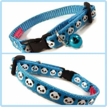 Blue Pandas Cat Collar