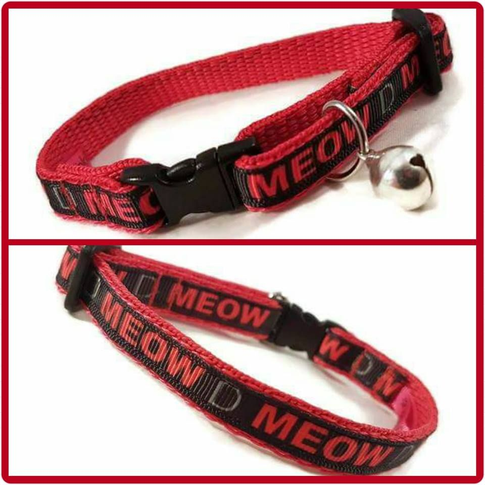 Red Meow Cat Collar
