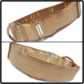 "1.5"" Gold Glitter House Collar"