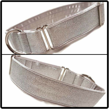 "1.5"" Silver Glitter House Collar"