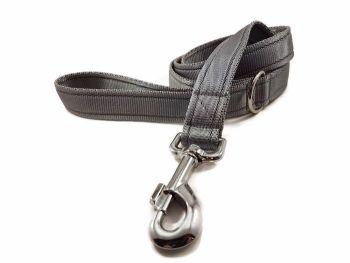 4ft Silver Cushion Dog Lead