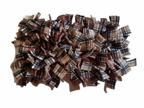 Beige Tartan Mini Fleecy Forage Treat Mat