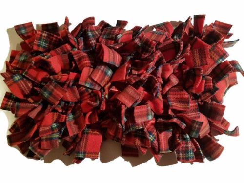 Royal Stewart Red Tartan Mini Fleecy Forage Treat Mat