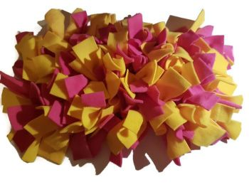 Pink and Yellow Mini Fleecy Forage Treat Mat